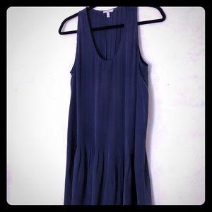 Joie 100% silk navy sleeveless dress